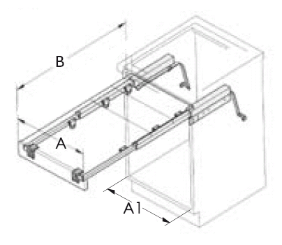 Table Mechanism Slide Out Of Lift Up For Cupboards
